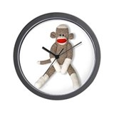 Sock Monkey Wall Clock