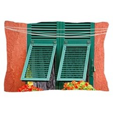 Cinque Terre. Colorful windows line th Pillow Case