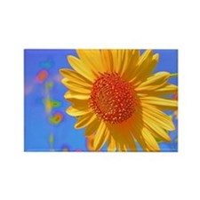 Wild Colors Sunflower Rectangle Magnet