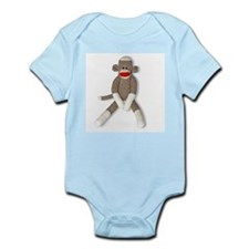 Sock Monkey Sitting Infant Bodysuit