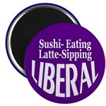 Sushi-Eating Liberal Magnet (100 pack)