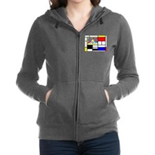 Pop Art Tibet Flag Women's Zip Hoodie