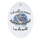 Aussie World2 Oval Ornament