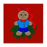 Gingerbread Boy Tile Coaster
