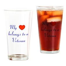 My Heart Belongs to a Veteran Drinking Glass