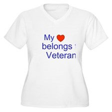 My Heart Belongs to a Veteran Plus Size T-Shirt