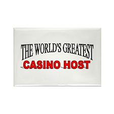 """The World's Greatest Casino Host"" Rectangle Magne"