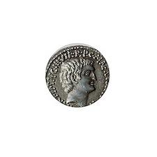 Roman coin. Mark Antony. Mini Button