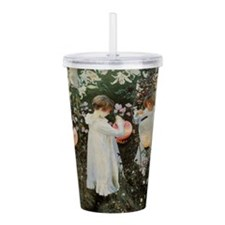 Cute Flower child Acrylic Double-wall Tumbler