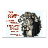 Masked Merle Rectangle Bumper Stickers