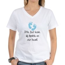 Baby Footprints Blue Shirt