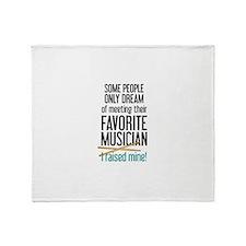 Meeting Musicians Throw Blanket