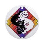 Kokopelli Yin Yang Ornament (Round)
