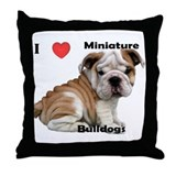 Unique English bulldogs Throw Pillow