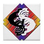 Kokopelli Yin Yang Tile Coaster