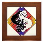 Kokopelli Yin Yang Framed Tile