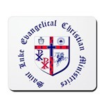 St. Luke's Mousepad with Round Text