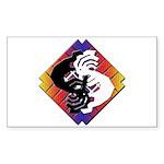 Kokopelli Yin Yang Rectangle Sticker