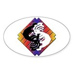 Kokopelli Yin Yang Oval Sticker