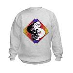 Kokopelli Yin Yang Kids Sweatshirt