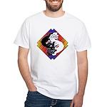 Kokopelli Yin Yang White T-Shirt