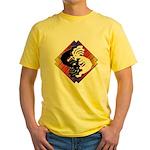 Kokopelli Yin Yang Yellow T-Shirt