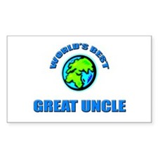 World's Best GREAT UNCLE Rectangle Decal