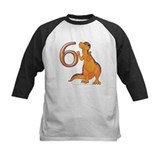 Kids Dino 6th Birthday Gifts Tee