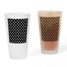 black and white polka dots pattern Drinking Glass