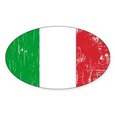 Vintage Italy Oval Decal