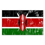 Vintage Kenya Rectangle Decal