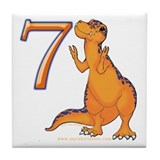Kids Dino 7th Birthday Gifts Tile Coaster