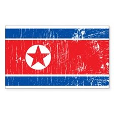Vintage North Korea Rectangle Decal