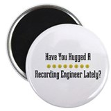 "Hugged Recording Engineer 2.25"" Magnet (100 p"