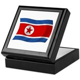 North Korea Flag Keepsake Box