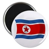 "North Korea Flag 2.25"" Magnet (100 pack)"