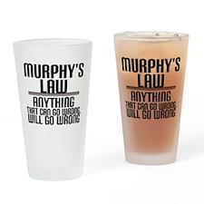 Murphy's Law Drinking Glass