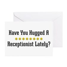 Hugged Receptionist Greeting Cards (Pk of 10)