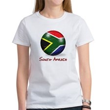South Africa Flag Soccer Ball Tee