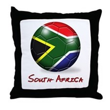 South Africa Flag Soccer Ball Throw Pillow