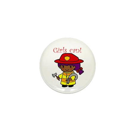 Girl Firefighter Mini Button