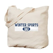 Winter Sports dad Tote Bag