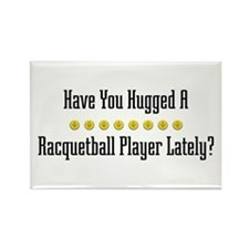 Hugged Racquetball Player Rectangle Magnet