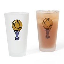 Soccer Ball Trophy Drinking Glass