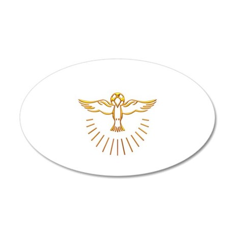 Ascent of The Holy Spirit 20x12 Oval Wall Decal