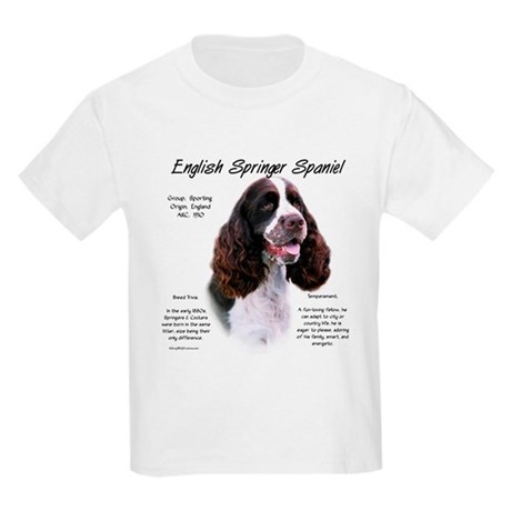 Liver English Springer Kids Light T-Shirt