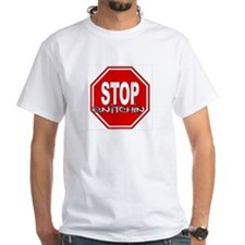 """Stop Snitchin"" T-Shirt, Premium Cotton Tee - SALE"
