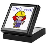 Girl Construction Worker Keepsake Box