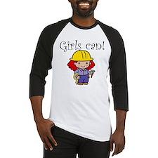Girl Construction Worker Baseball Jersey