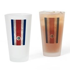 Cute Costa rica flag Drinking Glass